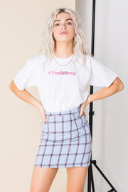 Daisy Street Relaxed T-Shirt with #FreeBritney Print