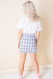 Heartbreak Tailored Mini Skirt Suit in Check