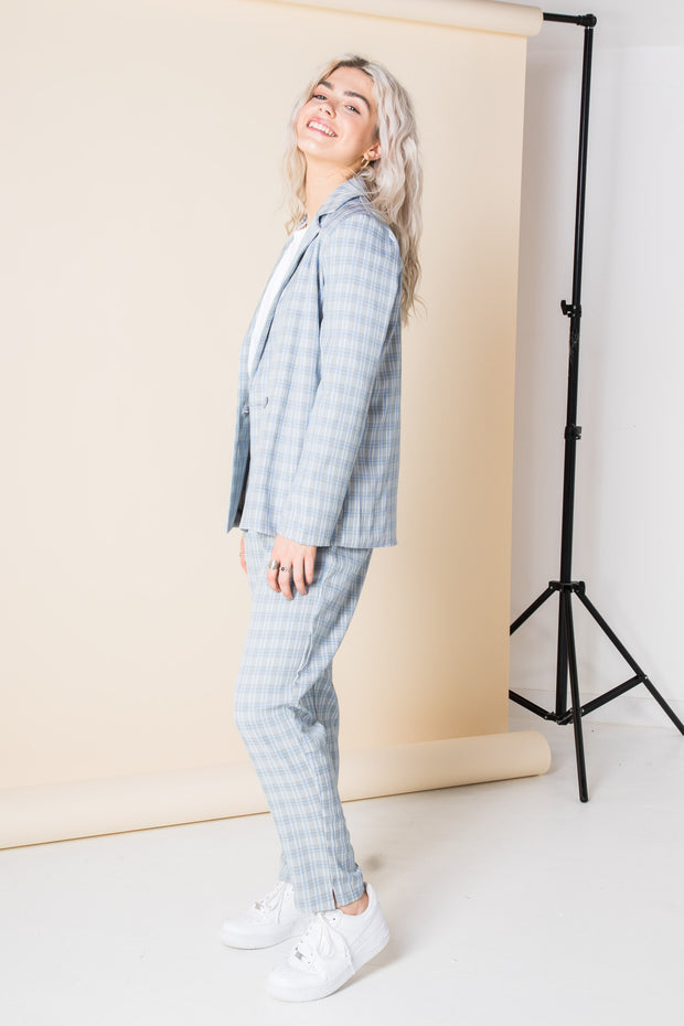 Heartbreak Tailored Peg Leg Trouser Suit in Check