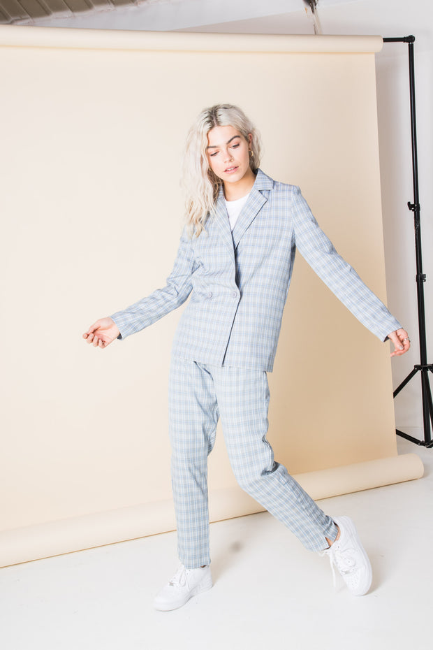 Heartbreak Double Breasted Blazer Suit in Check