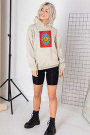 Daisy Street Oversized Hoodie with Tarot Print