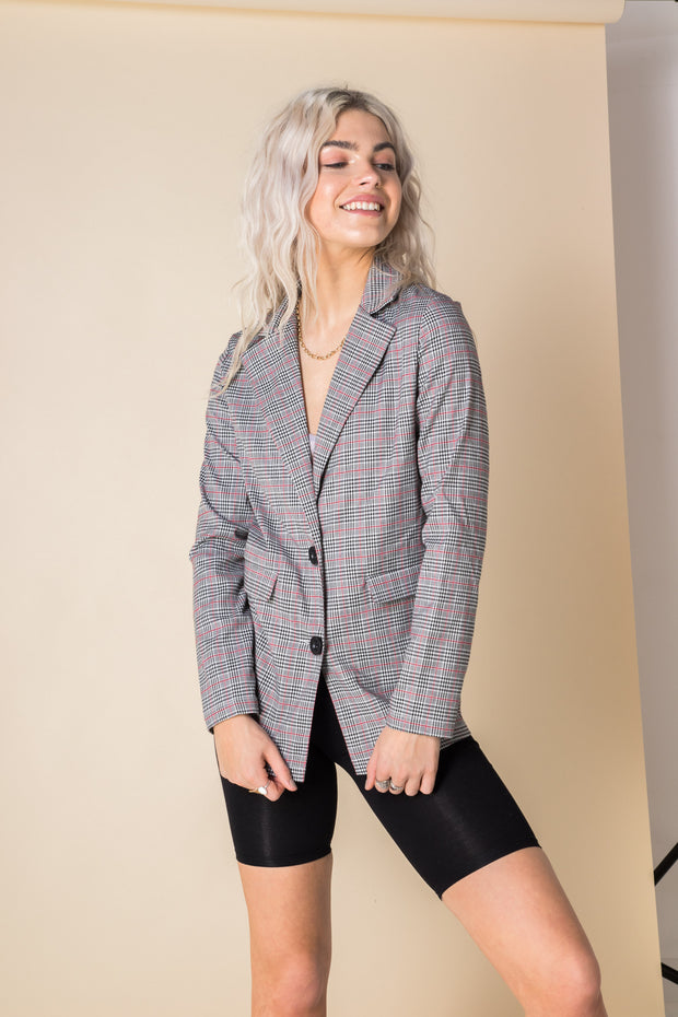 Daisy Street Checked Tailored Jacket