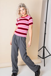 Daisy Street Retro Stripe Knitted Top
