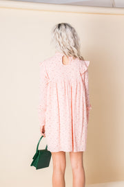 Daisy Street Pink Floral Smock Mini Dress