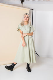 Daisy Street Cut-Out Cotton Midi Dress