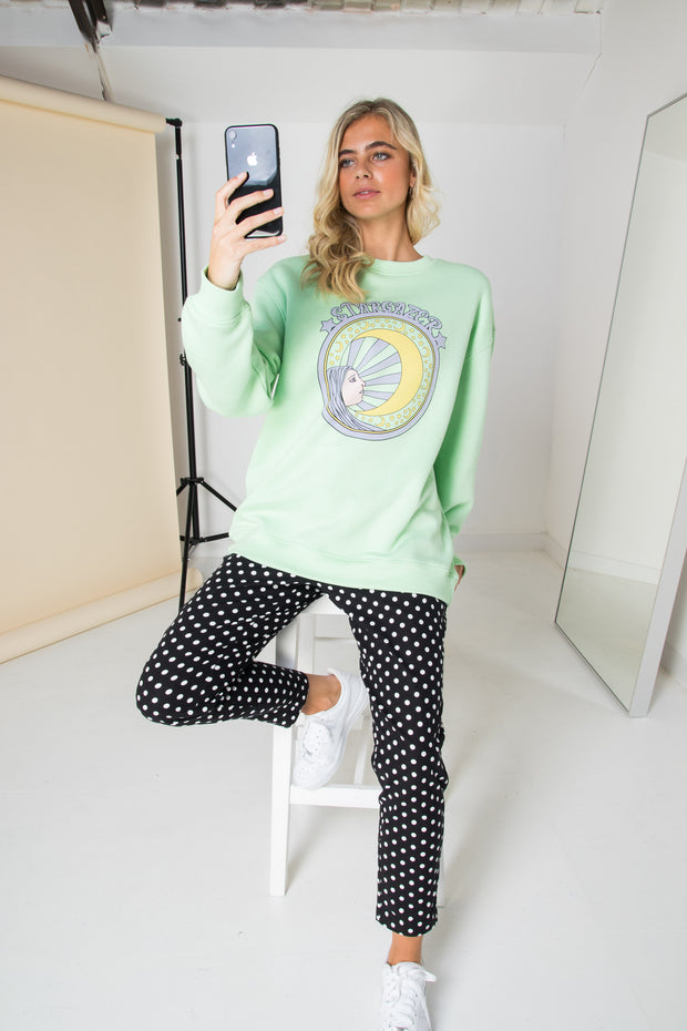Daisy Street Relaxed Sweat with Stargazer Print