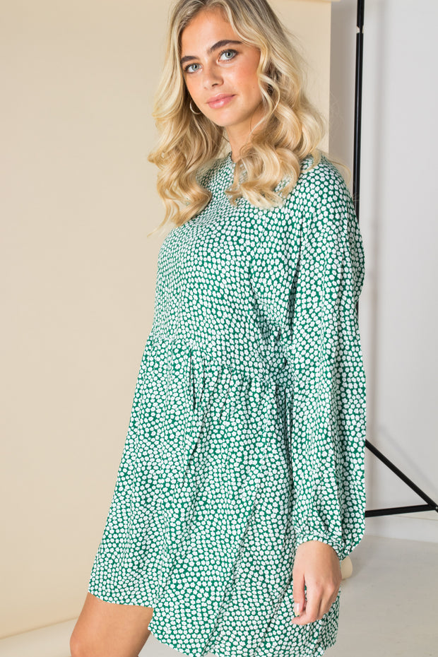 Daisy Street Mini Smock Dress in Ditsy Floral