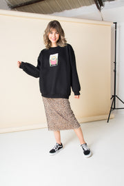 Daisy Street Oversized Sweat with Le Soleil Tarot Print