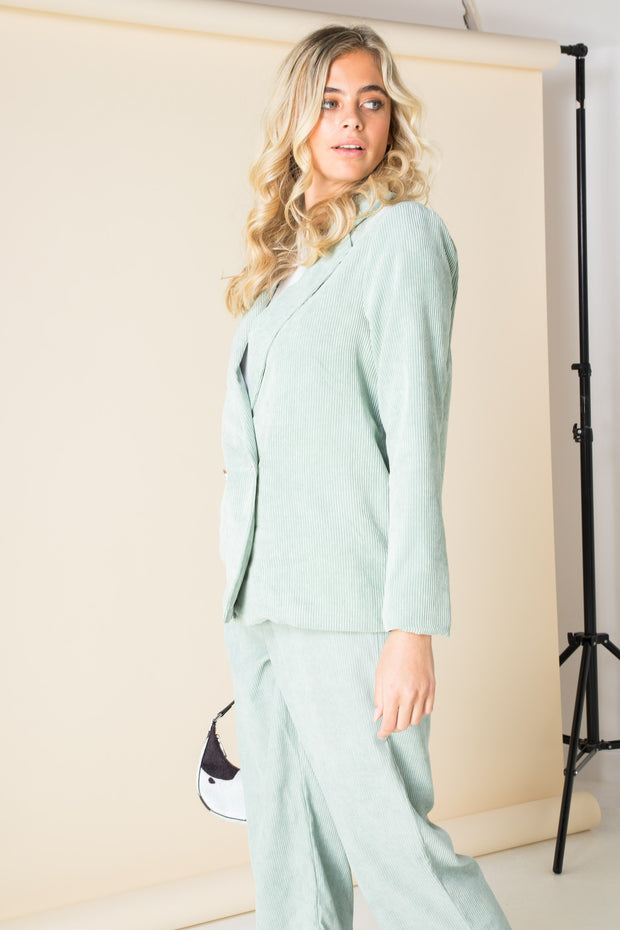 Daisy Street Relaxed Tailored Blazer in Cord Co-ord