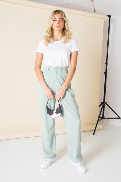 Daisy Street Relaxed Tailored Trousers in Cord Co-ord
