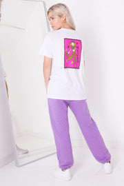 Daisy Street X Groovy Chick Relaxed White T-Shirt with Groovy Chick Print