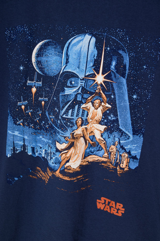 Daisy Street Relaxed T-Shirt with Throwback Star Wars Print