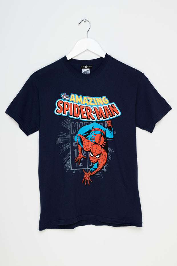 Daisy Street Relaxed T-Shirt with Spiderman Print