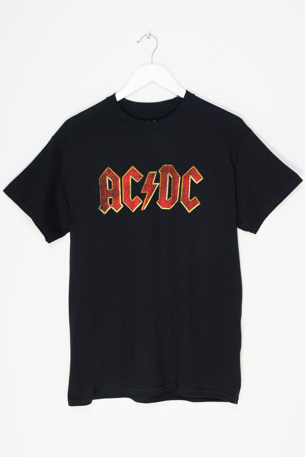 Daisy Street Relaxed T-Shirt with AC/DC Logo Print