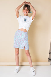 Daisy Street Relaxed T-Shirt with Polaroid Blue Skies Print