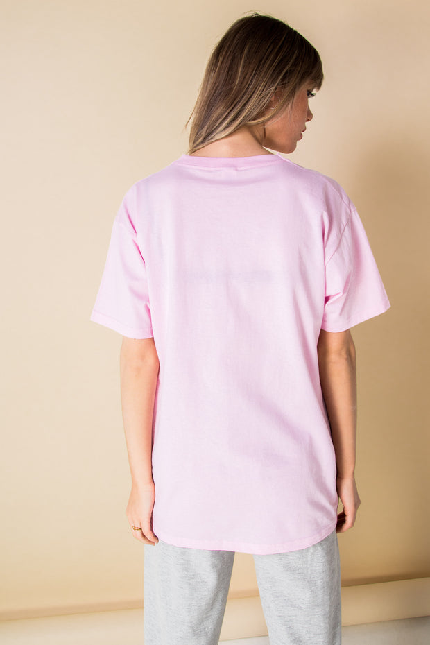 Daisy Street Relaxed T-Shirt with Self Care Barcode Print
