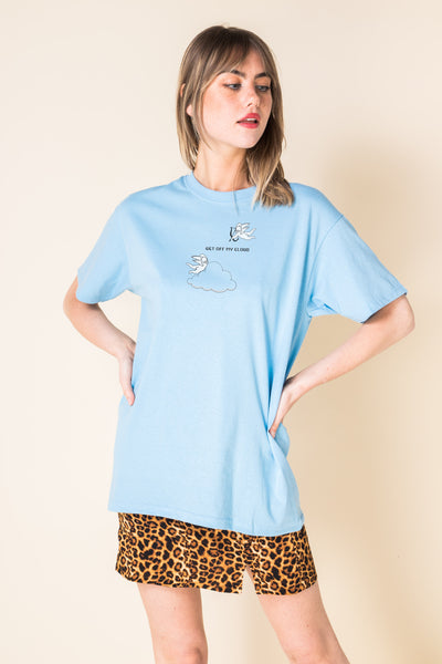 Daisy Street Relaxed T-Shirt with Get Off MY Cloud Print