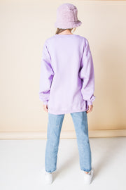 Daisy Street Oversized Sweatshirt with Find the Calm Print