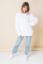 Daisy Street Oversized Sweatshirt with Flowering Print