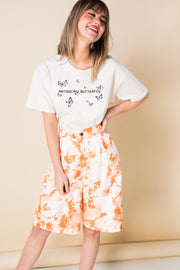 Daisy Street Relaxed T-Shirt with Antisocial Butterfly Print