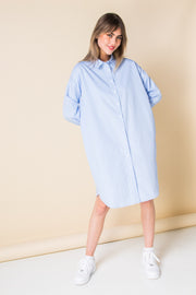 Daisy Street Oversized Shirt Dress in Stripe