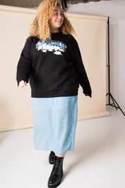 Daisy Street Curve Relaxed Sweatshirt With Los Angeles Graphic