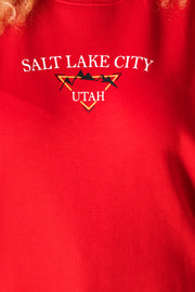 Daisy Street Curve Relaxed Sweatshirt With Salt Lake City Graphic