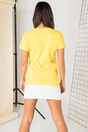 Daisy Street Regular Fit T-Shirt with Hello Sunshine Graphic