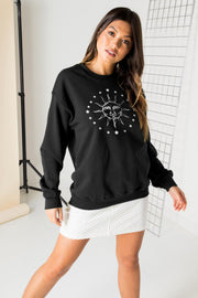 Daisy Street Relaxed Sweatshirt with Solstic Graphic