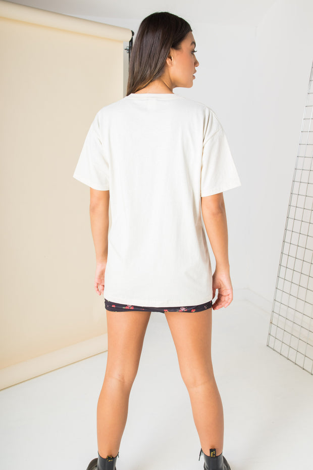 Daisy Street Relaxed T-Shirt with New York Print