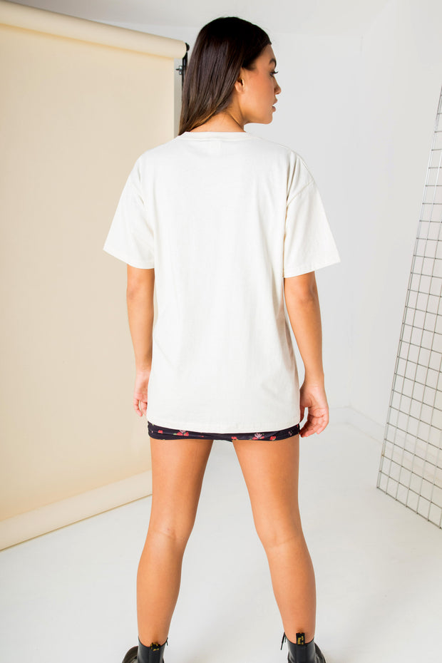 Daisy Street Relaxed T-Shirt with Sun Graphic