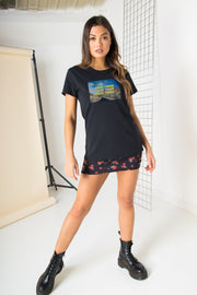 Daisy Street Regular Fit T-Shirt with Good Time Graphics