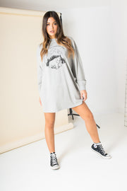 Daisy Street Oversized T-Shirt Dress with National Park Print