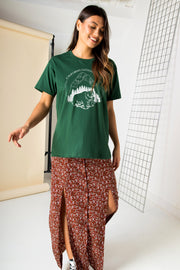 Daisy Street Relaxed T-Shirt with California Park Print