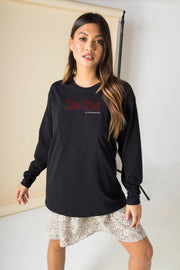 Daisy Street Relaxed Long Sleeved T-Shirt with Reality is Overrated Print