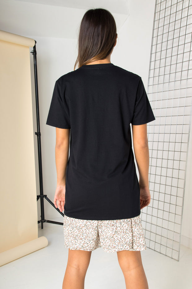 Daisy Street Relaxed T-Shirt with Chase Sun Print