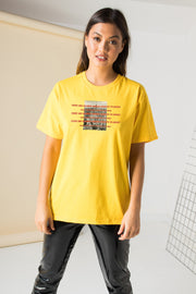 Daisy Street Relaxed T-Shirt with NYC Graphic