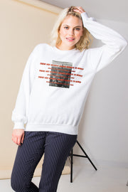 Daisy Street Relaxed Sweatshirt with NYC Graphic