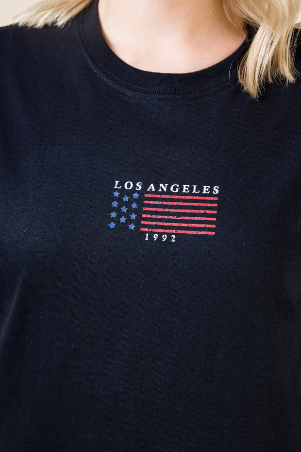 Daisy Street Relaxed T-Shirt with Los Angeles Print