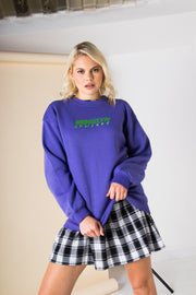 Daisy Street Relaxed Sweatshirt with Vintage Brooklyn Print