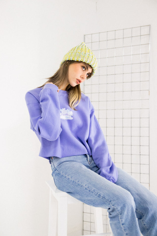 Daisy Street Cute as F*ck Cropped Sweat