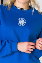 Daisy Street Oversized Sweat with Chicago Basketball Print