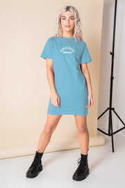Daisy Street Relaxed T-Shirt Dress with Chicago Print