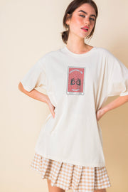Daisy Street Relaxed T-Shirt with Predicting the Future Print