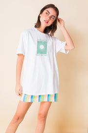 Daisy Street Relaxed T-Shirt with Where will the Future Take You Print