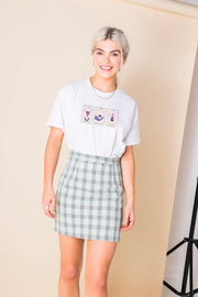 Daisy Street Relaxed T-Shirt with Triple Pink Tarot Print