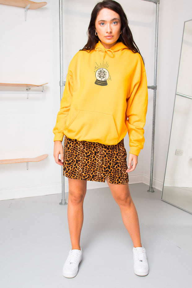 Daisy Street Oversized Hoodie with Crystal Ball Print