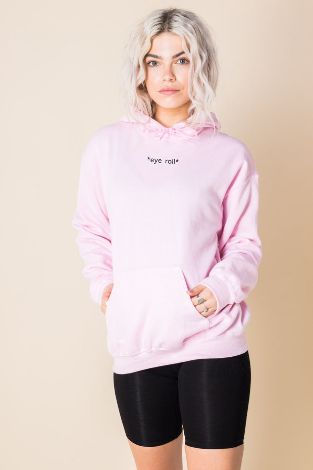 Daisy Street Oversized Hoodie with *Eye Roll* Print