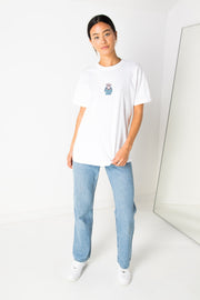 Daisy Street Relaxed T-Shirt with Fuck Off Print