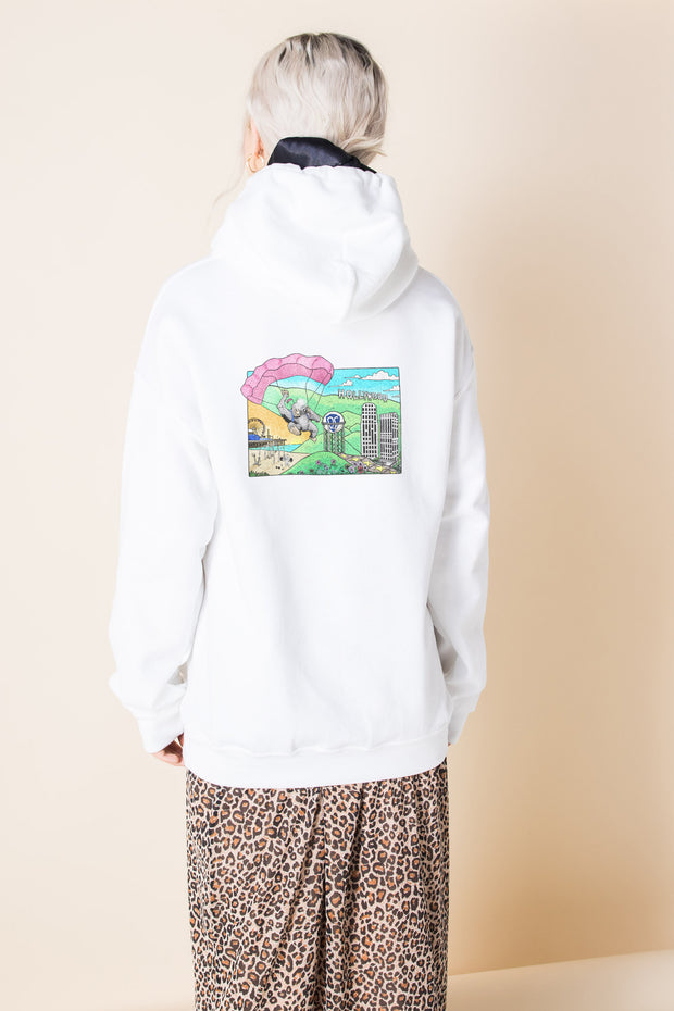 Daisy Street Oversize Hoodie with Hollywood Print